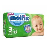 پوشک بچه مولفیکس سایز3 بسته 46 عددی