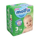 پوشک بچه مولفیکس سایز3 بسته 14 عددی