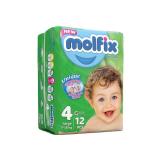 پوشک بچه مولفیکس سایز4 بسته12 عددی