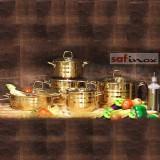 سرویس قابلمه استیل سافینوکس 10 پارچه مدل پریما طلایی