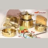 سرویس قابلمه سافینوکس 10 پارچه مدل گلد طلایی