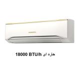 کولرگازی دیواری تک پنله سرد سری جدید اجنرال 18000 مدل ASGA18FUTB