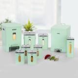 سرویس 9 پارچه آشپزخانه چهارگوش لیمون ( صنعت سازان )