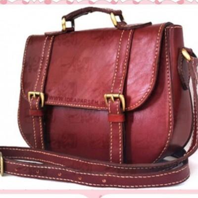 کیف زنانه چرم دست دوز