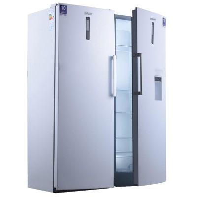 یخچال فریزر دوقلو سیلور عرض 65 با پنل دیجیتال سری FLAT DOOR مدل SRF19 سفید