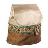 کوله پشتی زنانه سنتی طلایی