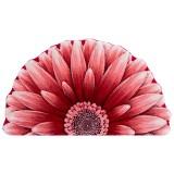 فرش سه بعدی زرباف طرح گل داوودی نیم رنگ قرمز روشن