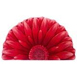 فرش سه بعدی زرباف طرح گل داوودی نیم رنگ قرمز