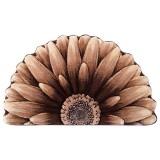 فرش سه بعدی زرباف طرح گل داوودی نیم رنگ شکلاتی