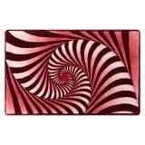 فرش سه بعدی زرباف طرح ویولا رنگ قرمز