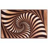 فرش سه بعدی زرباف طرح ویولا رنگ شکلاتی
