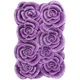فرش سه بعدی زرباف طرح گلستان رنگ یاسی