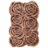 فرش سه بعدی زرباف طرح گلستان رنگ شکلاتی