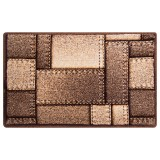 فرش سه بعدی زرباف طرح المان رنگ شکلاتی