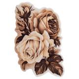 فرش سه بعدی زرباف طرح ارغوان رنگ شکلاتی