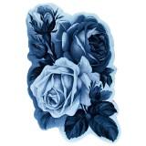 فرش سه بعدی زرباف طرح ارغوان رنگ آبی