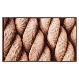 فرش سه بعدی زرباف طرح طناب رنگ شکلاتی