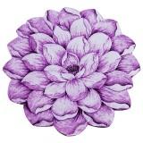 فرش سه بعدی زرباف طرح گل نیلوفر رنگ یاسی