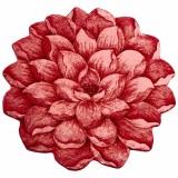 فرش سه بعدی زرباف طرح گل نیلوفر رنگ قرمز