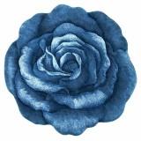 فرش سه بعدی زرباف طرح رز رنگ آبی