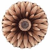 فرش سه بعدی زرباف طرح گل داوودی رنگ شکلاتی
