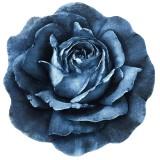فرش سه بعدی زرباف طرح رز مینیاتوری رنگ آبی