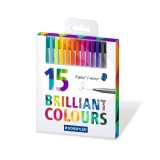 روان نویس استدلر با نوک نمدی 15 رنگ سری Triplus مدل 334 C15