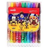 مداد شمعی 12 رنگ اونر طرح روباتها مدل Twistable کد 533812