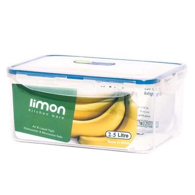 ظرف فریزری مستطیلی 2/5 لیتری لیمون