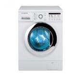 ماشین لباسشویی دوو تمام هوشمند 8 کیلویی مدل DWK 8214C2 سفید با درب کروم