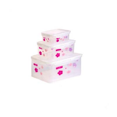 سرویس ظرف فریزری 6 پارچه مستطیل چاپدار لیمون
