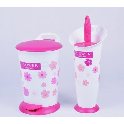 سطل و فرچه دستشویی لیمون