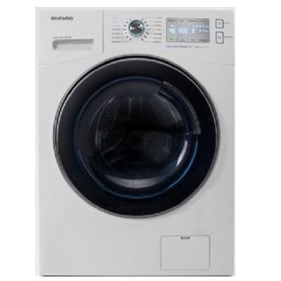 ماشین لباسشویی دوو تمام هوشمند 9 کیلویی مدل DWK-9314C سفید با درب کروم