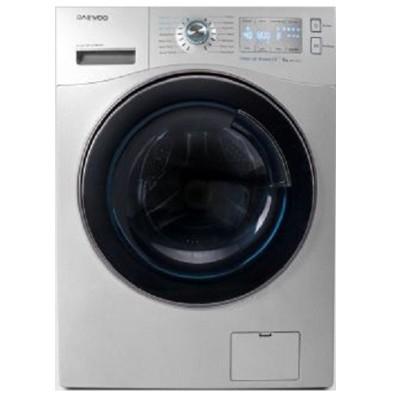 ماشین لباسشویی دوو تمام هوشمند 9 کیلویی مدل DWK-9314S نقره ای با درب کروم