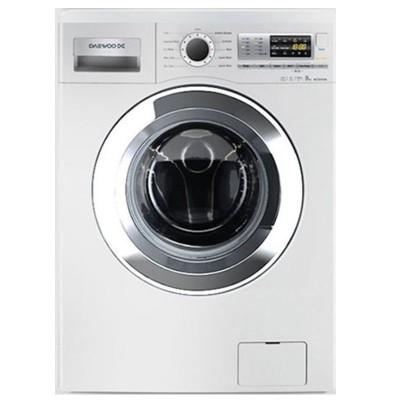 ماشین لباسشویی دوو تمام هوشمند 9 کیلویی مدل DWK-9110C سفید با درب کروم