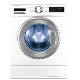 ماشین لباسشویی دوو تمام هوشمند 8 کیلویی مدل DWK 8312CT سفید با درب کروم