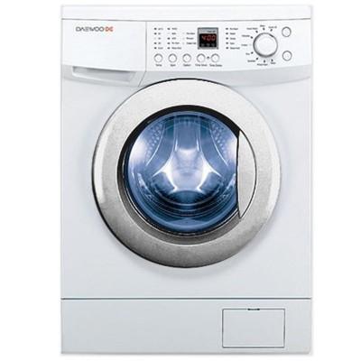 ماشین لباسشویی دوو تمام هوشمند 8 کیلویی مدل DWK-8110CT سفید با درب کروم