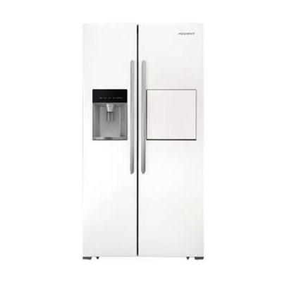 یخچال و فریزر ساید بای ساید اکسنت مدل X6 SBS رنگ سفید چرمی