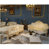 مبل کلاسیک مدل امپریال به همراه جلومبلی و عسلی