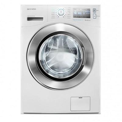 ماشین لباسشویی دوو تمام هوشمند 8 کیلویی مدل DWK-8714C سفید با درب کروم