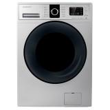 ماشین لباسشویی دوو تمام هوشمند 8 کیلویی مدل DWK 8614S نقره ای با درب کروم