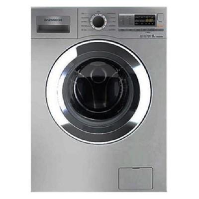 ماشین لباسشویی دوو تمام هوشمند 9 کیلویی مدل DWK-9112S نقره ای با درب کروم