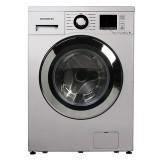 ماشین لباسشویی دوو تمام هوشمند 8 کیلویی مدل DWK 8412S نقره ای با درب کروم