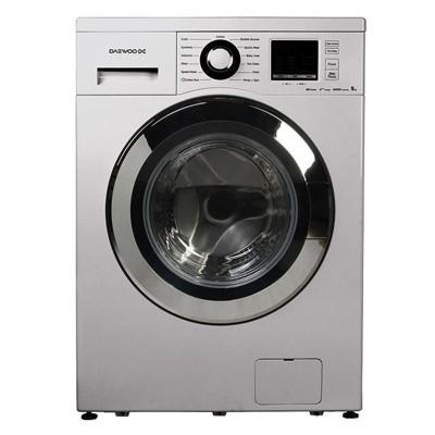 ماشین لباسشویی دوو تمام هوشمند 8 کیلویی مدل DWK-8412S نقره ای با درب کروم