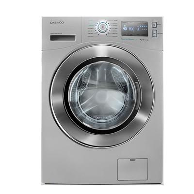 ماشین لباسشویی دوو تمام هوشمند 9 کیلویی مدل DWK-9214S نقره ای با درب کروم