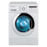 ماشین لباسشویی دوو تمام هوشمند 8 کیلویی مدل DWK 8112CT سفید با درب کروم