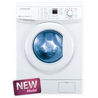 ماشین لباسشویی دوو تمام هوشمند 8 کیلویی مدل DWK-8112CT سفید با درب کروم