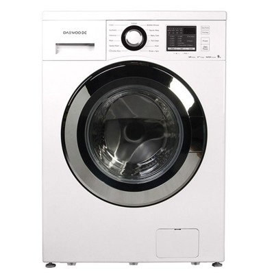 ماشین لباسشویی دوو تمام هوشمند 7 کیلوئی مدل DWK-7114S نقره ای با درب کروم