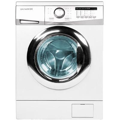 ماشین لباسشویی دوو تمام هوشمند7 کیلویی مدل DWK-7114c سفید با درب کروم