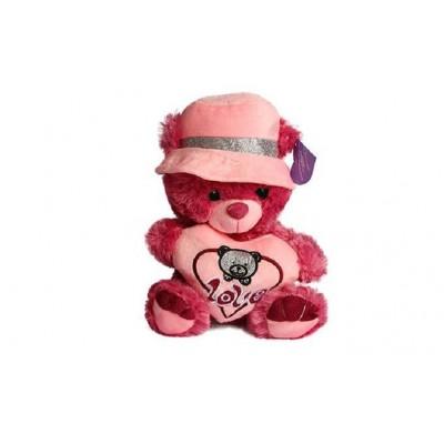 عروسک خرس PAPO کلاه دار قلب به دست